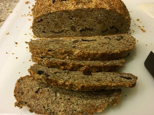 slice olive bread